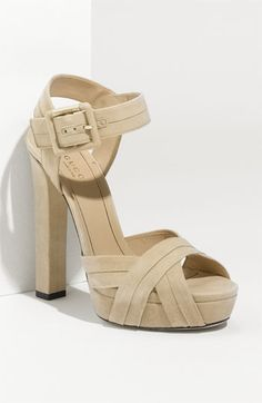 Gucci 'Jamie' Suede Platform Sandal available at Nordstrom