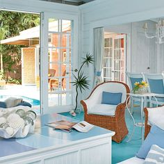 ***** Connected with Color - 40 Beautiful Beachy Living Rooms - Coastal Living