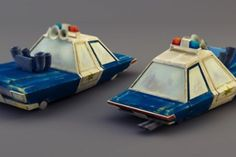 Cinema 4D - Squad Car and News Van UV Mapping and Texture Painting Time-Lapse 2