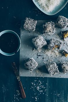 Gluten Free Lamingtons - Souvlaki For The Soul Amazing Food Photography, Dark Food Photography, Lamingtons Recipe, Fairy Cakes, Small Cake, Candy Shop, Sweet Cakes, Chocolate Lovers, Perfect Food