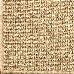 Wool Sisal w/ Serged Binding Rug in natural 8' square $528 or 10' square $818