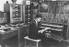 Wendy Carlos in the studio 1968, Legendary Moog in the background