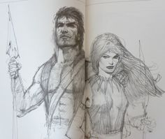 Don Lawrence - Storm and Ember sketching