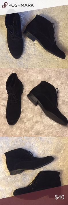Franco Sarto boots sz 8 Franco Sarto black suede lace up booties sz 8, lightly worn, in great condition! Franco Sarto Shoes Lace Up Boots