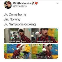 Mom jin going to stop dad namjoon from cooking