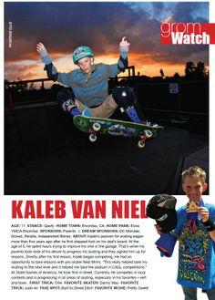 Issue 1, GromWatch: Kaleb Van Niel