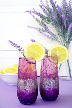 Lavender Lemonade Prosecco Tails Diy Ombre Glitter Champagne Gles Are The Perfect Pair For A Sunday Brunch With Your Favorite Friends Get