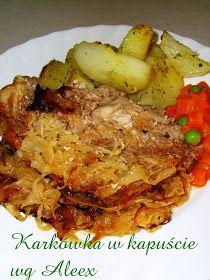 W mojej kuchni: Karkówka w kapuście wg Aleex No Salt Recipes, Top Recipes, Meat Recipes, Cooking Recipes, Healthy Recipes, Czech Recipes, Ethnic Recipes, Pork Tenderloin Recipes, Pork Dishes