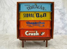repurposed soda crate furniture - so cute for a little boys room!