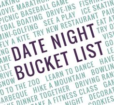 Our 2015 Date Night Bucket List