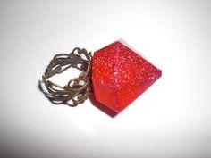 """Ring """"Diamant"""" pink von Delirium's Realm auf DaWanda.com"""