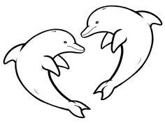 Dibujo para colorear de delfines (nº 9)