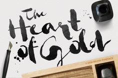 Heart of Gold • Brush Typeface by Pavel Korzhenko on Creative Market