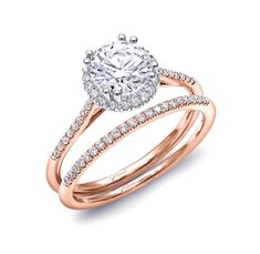 anillo compromiso rose gold 14