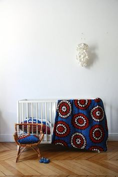 Linen Collection with African wax prints by French designer and maker Adeline Affre. via punky-b Baby Bedroom, Kids Bedroom, Nursery Design, Nursery Decor, Casa Kids, African Interior, Nursery Neutral, Neutral Nurseries, Nursery Inspiration