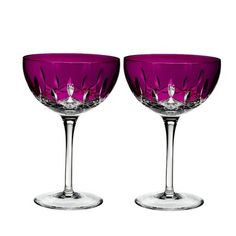Waterford Lismore Pops 10 oz Cocktail Glass Color: Hot Pink
