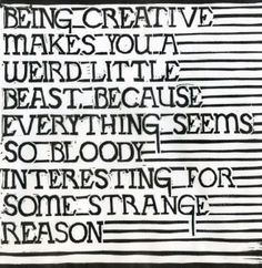 #weird # interesting #quote (lino cut by Mark Andrew Webber)