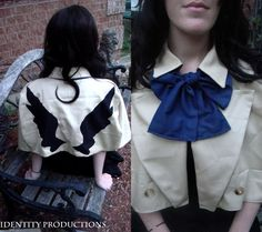 Supernatural Castiel Capelet by IdentityProductions on Etsy, $70.00. This would be so cute for a femme Cas cosplay.