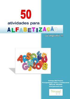 50 atividades para alfabetização (apostila em PDF - enviada por e-mail)
