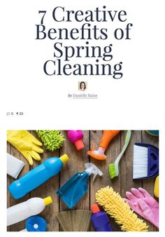 How taking the time to give your home some TLC can boost and enhance your creativity. ✨ 7 Creative Benefits of Spring Cleaning : : Empowered Wellness Magazine ✨ House Cleaning Tips, Spring Cleaning, Cleaning Hacks, Organization Skills, Creativity Quotes, Simple Pleasures, Writing Inspiration, Blog Tips, Living Magazine