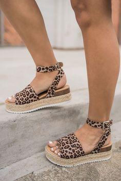 """""""Leopard Or Not"""" Platform Sandals – Happily Ever Aften"""