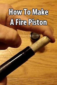 A fire piston is a device used to create embers for starting a fire. The principle behind it is adiabatic heating.