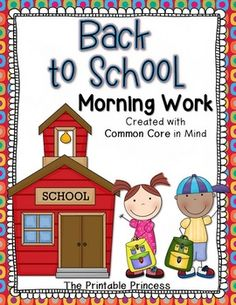 Back to school morning work.. just for Kinders! Easy and repetitive activities so they can work independently.. and you can focus on morning housekeeping duties!