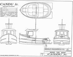 Candu Jr, Mini Tugboat Plans, Tugboat Plans
