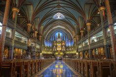 Notre Dame Cathedral, Montreal, Quebec, Canada - HDR. by Bill Murray EarthPhotos, via Flickr