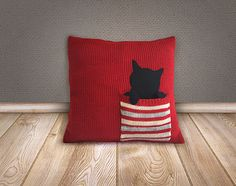 CHRISTMAS GIFT Knitted Pillow Cover EXPRESS by talkingloves