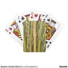 Bamboo Garden Photo Playing Cards