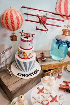 Little Big Company   The Blog: The Places you will go, A Vintage Airplane and Hot Air Ballon Themed Christening by The Little Big Company