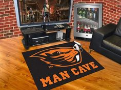 "Man Cave All-Star Rug (34""x45"") - Oregon State University"