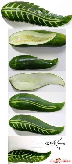 Pictures of vegetable flowers / leaves - Food Carving Ideas Veggie Art, Fruit And Vegetable Carving, Veggie Food, Fruit Decorations, Food Decoration, Fruit Party, Snacks Für Party, Deco Fruit, Creative Food Art