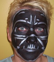 darth vader face paint pinteres. Black Bedroom Furniture Sets. Home Design Ideas