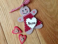 Personalised gingerbread girl  christmas decoration tag