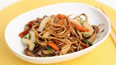 Veggie Lo Mein Recipe - Laura in the Kitchen - Internet Cooking Show Starring Laura Vitale Chinese Vegetables, Mixed Vegetables, Veggies, Asian Recipes, New Recipes, Cooking Recipes, Ethnic Recipes, Vegetarian Recipes, Vegetable Lo Mein