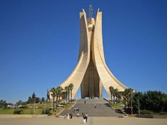 Maqam Echahid (Martys Memorial) - Algiers, Algeria The memorial was built in 1982 to commemorate the lives lost during the Algerian War of Independence ""