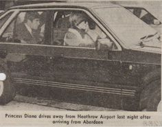 1982 09 17 driving away from Heathrow Airport after arriving from Aberdeen