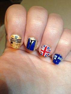 Doctor Who Nail Art! - Imgur