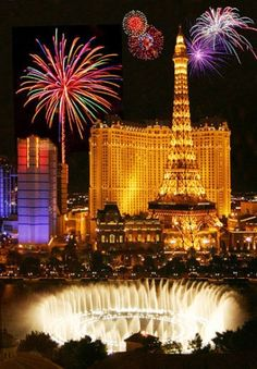 Where else would you want to be in the world on New Year's Eve other than Sin City? Wow Las Vegas.