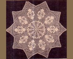 PDF Antique 'Fleur Des Lis' Doily Crochet Pattern in FILET-CROCHET a Unique 'Star-Shaped' Doily or Placemat Stunning Filet Crochet, Crochet Motif, Crochet Doilies, Knit Crochet, Filets, Retro Home Decor, Vintage Crafts, Vintage Knitting, Victorian