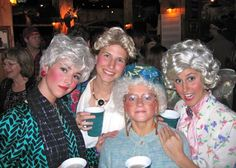Golden Girls -- 21 Creative Group Costume Ideas for Girls via Brit + Co.