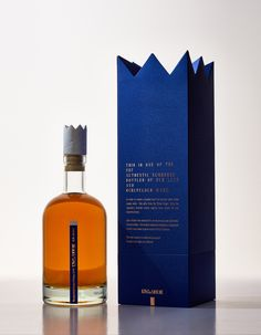 Long live the king. Lithuanian agency CLINIC 212 designed packaging for  King & Mouse whisky to give it a look that is equally regal and formidable.