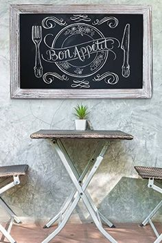 Cute, Playful and Popular Chalkboard Wall Art | Home Wall Art Decor | 1000 Kitchen Wall Colors, Kitchen Wall Art, Home Wall Art, Kitchen Wood, Frame Wall Decor, Wood Wall Decor, Framed Wall Art, Room Decor, Shabby Chic Furniture