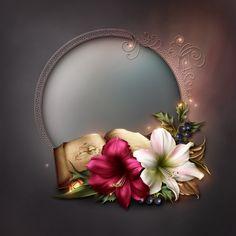 Flower Frame, Flower Art, Molduras Vintage, Creative Flower Arrangements, Wedding Album Design, Pretty Backgrounds, Gifts For An Artist, Borders And Frames, Background Patterns