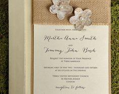 Custom listing (100) rustique Blossom faire-part de mariage, Invitations de mariage de Style Country, Birch Bark Invitations de mariage