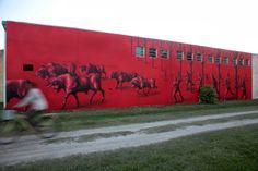 Street art mural by Jaz in Uruguay #streetart #jaz #graffiti #uruguay