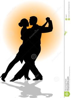 Illustration about Silhouette illustration of a couple dancing.change the color with the eps file. Illustration of dancer, male, illustrations - 732317 Private Dance Lessons, Dancing Couple Silhouette, Tango Dancers, Dancing Drawings, Dance Paintings, Silhouette Painting, Partner Dance, People Dancing, Couple Illustration