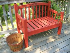Benches Made From Bed Frames | LOVE the new look! Now, I'm looking forward to painting other ...